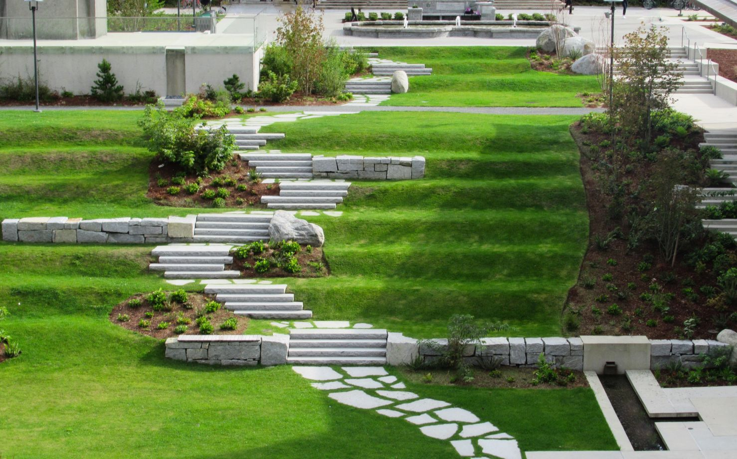 Landscape consulting job - backyard turf with stone walkway 2 - Mornington Peninsula