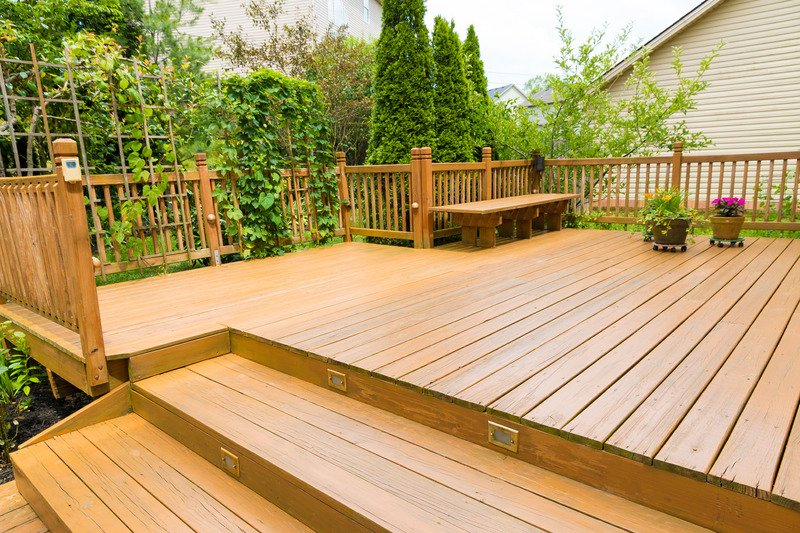 Outdoor wood deck and steps in the backyard - Mornington Victoria