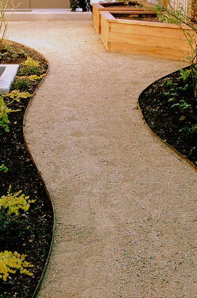 Steel Garden Edging project 1, Mornington Peninsula